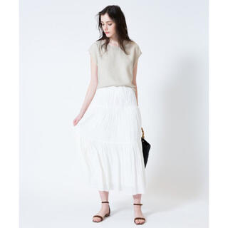 アナイ(ANAYI)の新品タグ付き アルアバイル  ティアードロングスカート(ロングスカート)