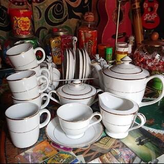 昭和レトロ takiichi china カップ ティーポット クリーマー(食器)