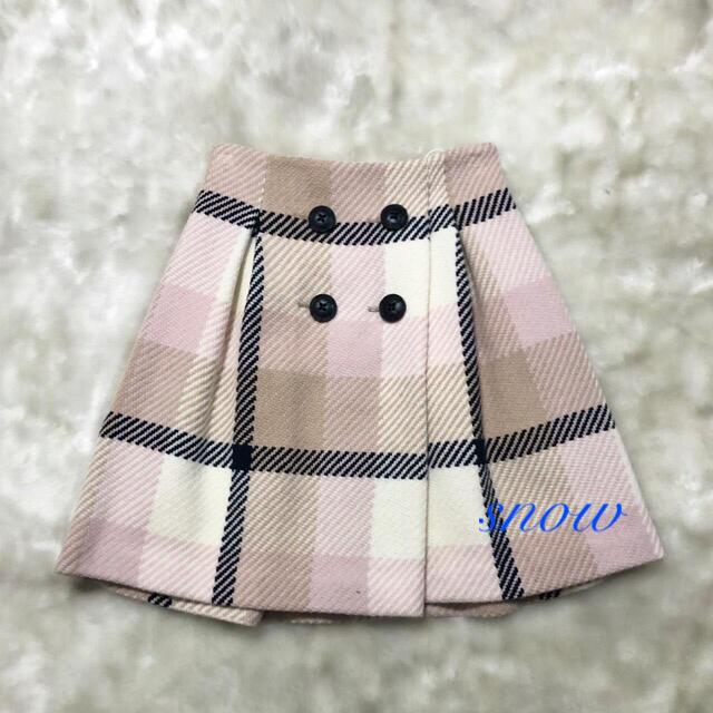 BURBERRY BLUE LABEL(バーバリーブルーレーベル)の《新品》ブルーレーベルクレストブリッジ ボタンスカート38 レディースのスカート(ひざ丈スカート)の商品写真