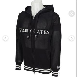 パーリーゲイツ(PEARLY GATES)のパーリーゲイツ  メッシュパーカー ネイビー ブラック レディース 黒(パーカー)