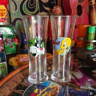 Tweety sylvester グラス 2個セット(グラス/カップ)