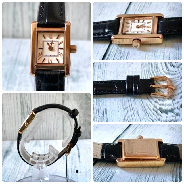 agete(アガット)の【電池交換済み】agete アガット 腕時計 スクエア ピンクゴールド レディースのファッション小物(腕時計)の商品写真