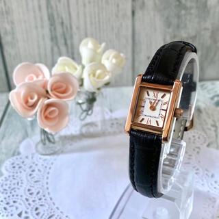 【電池交換済み】agete アガット 腕時計 スクエア ピンクゴールド