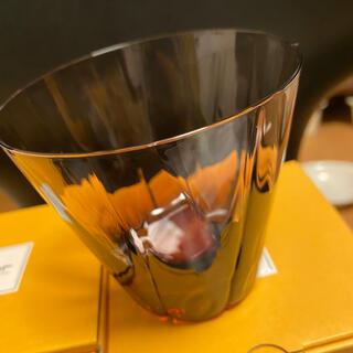 スガハラ(Sghr)の2個セット☆sghr スガハラ ダイヤロックグラス  新品未使用 ワインレッド(グラス/カップ)