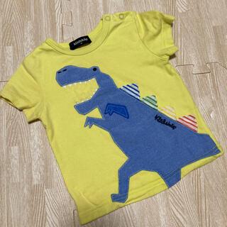 クレードスコープ(kladskap)のクレードスコープ Tシャツ 恐竜 イエロー 80(Tシャツ)