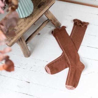 ボンポワン(Bonpoint)の新品未使用‼️Louise Misha 靴下 ルイーズミーシャ 25/26(靴下/タイツ)