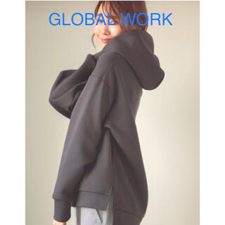GLOBAL WORK - GLOBAL WORK グローバルワーク ハンサム美人パーカープルオーバー