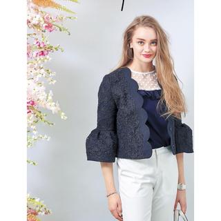 Chesty - チェスティ♡スカラップレースジャケット&ワンピースセット ネイビー0サイズ