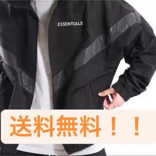 エッセンシャル(Essential)のエッセンシャルズ  ナイロンジャケット  黒  ブラック Lサイズ(ナイロンジャケット)
