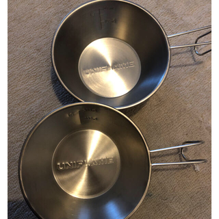 ユニフレーム(UNIFLAME)の新品 ユニフレーム チタンシェラカップ 2個セット(調理器具)