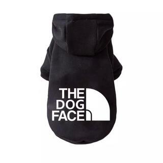 THE DOG FACE フード付きパーカー XLサイズ  ブラック(ペット服/アクセサリー)