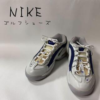 ナイキ(NIKE)のNIKE ナイキ ゴルフシューズ スパイク ブルー ホワイト マーク 23㎝(その他)