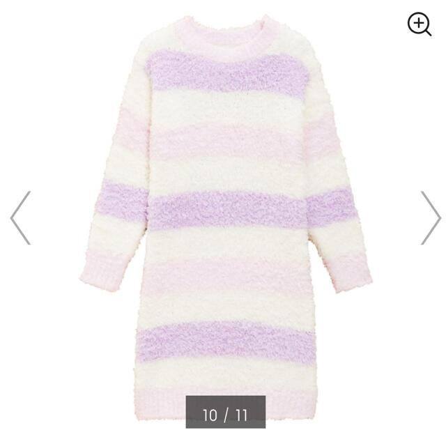 GU(ジーユー)の新品★120㎝ もこもこワンピース ピンク キッズ/ベビー/マタニティのキッズ服女の子用(90cm~)(パジャマ)の商品写真