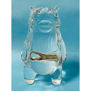 バカラ(Baccarat)の【 限定・美品 】Baccarat(バカラ) × くまモン  クリスタルガラス(置物)
