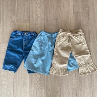 ハッカキッズ(hakka kids)の女の子 ショートパンツ 100cm 3枚セット(パンツ/スパッツ)