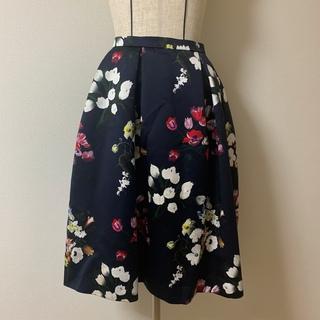 ケイタマルヤマ(KEITA MARUYAMA TOKYO PARIS)のケイタマルヤマ 膝丈 花柄スカート(ひざ丈スカート)