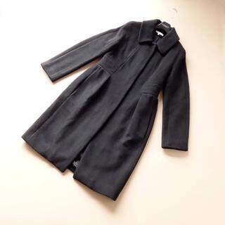 PAULE KA - ■ポールカ■ 38 黒 ブラック 着やせコート PAULEKA