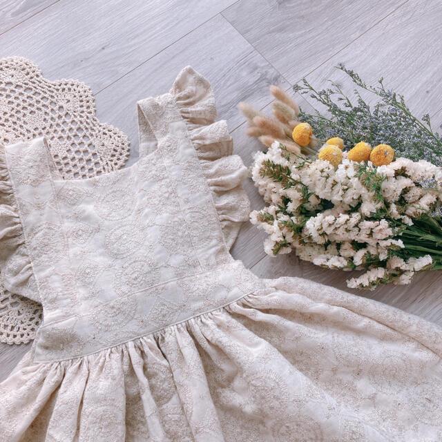 Caramel baby&child (キャラメルベビー&チャイルド)のhand made  apron one-piece キッズ/ベビー/マタニティのキッズ服女の子用(90cm~)(ワンピース)の商品写真