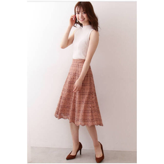 PROPORTION BODY DRESSING - 新品タグ付き♡チェックフロッキーレーススカート