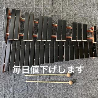 ヤマハ(ヤマハ)のYAMAHA ヤマハ 卓上木琴 シロフォン  2段 シロホン No.185 (木琴)