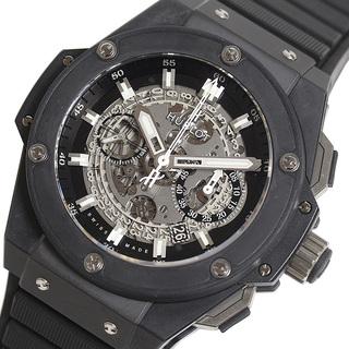 ウブロ(HUBLOT)のウブロ HUBLOT キングパワー ウニコ ブラックマジック 腕時計 【中古】(ラバーベルト)