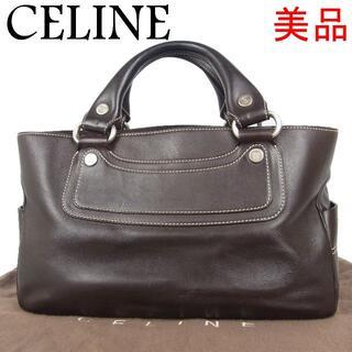 セリーヌ(celine)のセリーヌ 美品 ブラゾン ブギー バッグ レザー 2層式 ハンド バッグ(ショルダーバッグ)