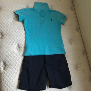 POLO RALPH LAUREN - ラルフローレン ポロシャツ  水色 Mサイズ GAPパンツ付き