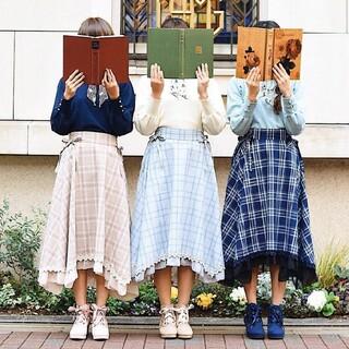 アクシーズファム(axes femme)のaxes femme チェックスカート(ひざ丈スカート)