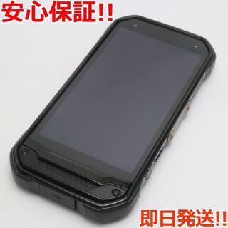 キョウセラ(京セラ)の美品 SIMロック解除 au TORQUE G03 ブラック 白ロム(スマートフォン本体)
