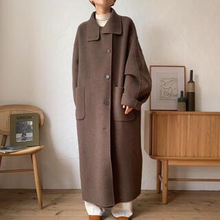 TODAYFUL - nokcha original HAND MADE long coat moca