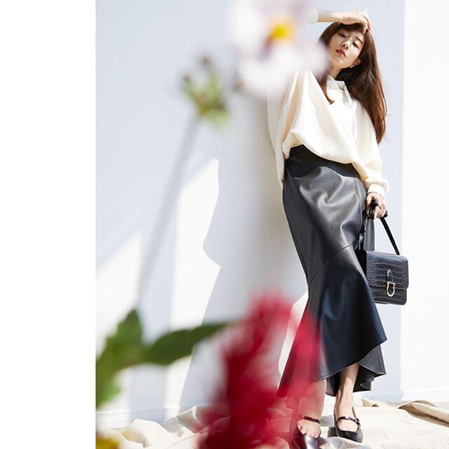 ViS(ヴィス)の【未使用】田中みな実着用 ViS エコレザー マーメイド ロングスカート レディースのスカート(ロングスカート)の商品写真
