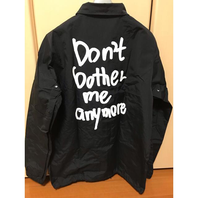 GDC(ジーディーシー)の最終値下げ wasted youth コーチジャケット M 黒 新品 未使用 メンズのジャケット/アウター(ナイロンジャケット)の商品写真