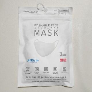 UNIQLO - 【新品未使用未開封】エアリズムマスク Mサイズ ホワイト/白 3枚組 ユニクロ