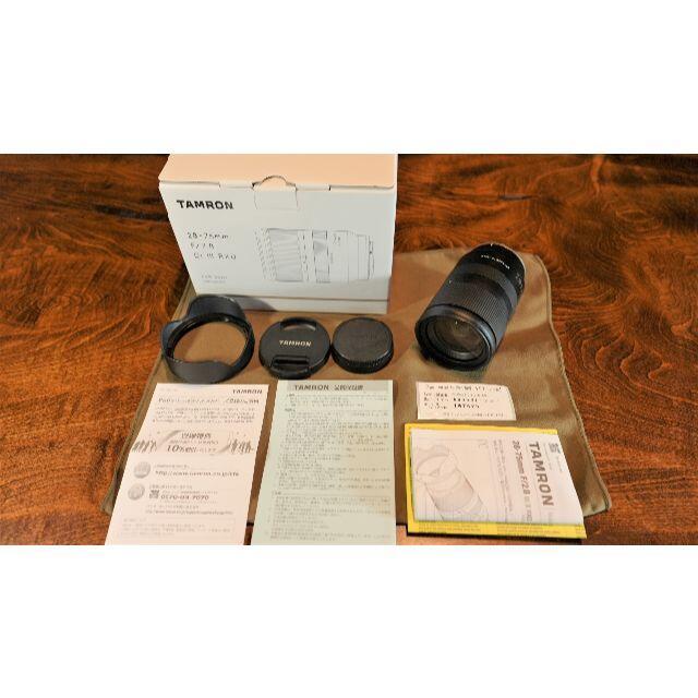 TAMRON(タムロン)の美品 タムロン 28-75mm F2.8 Di III RXD ソニー スマホ/家電/カメラのカメラ(レンズ(ズーム))の商品写真