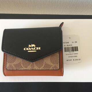 COACH - コーチ 31548 三つ折り財布 二つ折り財布 カラーブロック シグネチャー