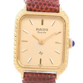 ラドー(RADO)のラドー    133.9517.2  レザー GP    ゴールド(腕時計)