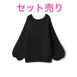 GRL - GRL ニット レーススカート まとめ売り 黒