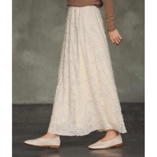 Aunt Marie's - AUNT MARIE'S シフォンカットジャガードスカート