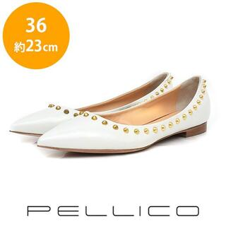 PELLICO - 新品❤️ペリーコ 難あり 定価約5万 スタッズ フラットパンプス 36(約23