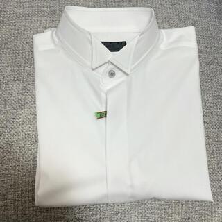 美品 新郎 ウィングカラーシャツ リブラブラフ L ハンカチセット