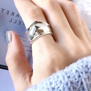 アメリヴィンテージ(Ameri VINTAGE)の再販【シルバー】ワイド ニュアンス リング(リング(指輪))