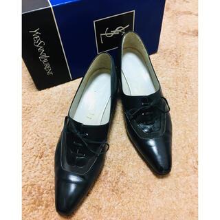 イヴサンローランボーテ(Yves Saint Laurent Beaute)のローファー パンプス 黒(ローファー/革靴)