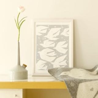 mina perhonen - 新品未使用 ミナペルホネン クリッパン アートポスター 鳥 TRIP BIRD