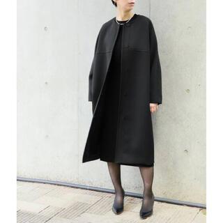 イエナ(IENA)の未使用 今季 HARDY NOIR 3重織りノーカラーコート ブラック (その他)