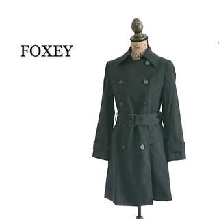 FOXEY - FOXEY トレンチコート ブラック レディース コート