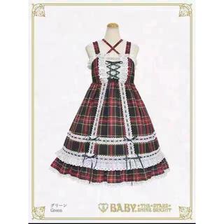 BABY,THE STARS SHINE BRIGHT - タータンチェックベビードールジャンパースカート