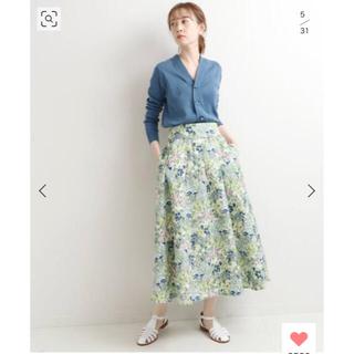 イエナ(IENA)のイエナ かすれフラワーギャザースカート 36(ロングスカート)