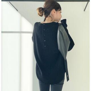 アパルトモンドゥーズィエムクラス(L'Appartement DEUXIEME CLASSE)のused☆L'Appartement Thermal Knit ブラック(ニット/セーター)