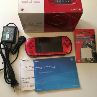 PlayStation Portable - PSP3000 レッド 付属品あり SONY