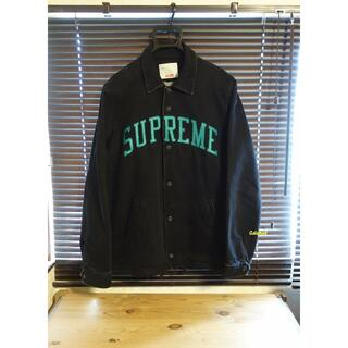 Supreme - 美品 Supreme 13AW Denim Coaches jacket 黒 M